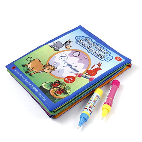 diccit Children Kids Water Painting Writing Drawing Book Cartoon Animal Doodle Toy wih Pen Nachlaufmäher