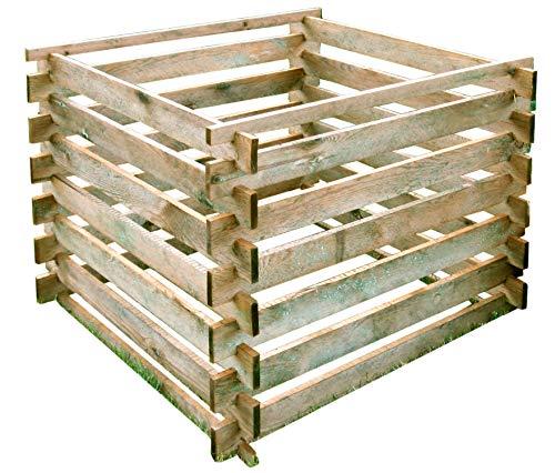 Gartenpirat Komposter 90x90 cm mit Stecksystem aus Holz kesseldruckimprägniert 380 Liter