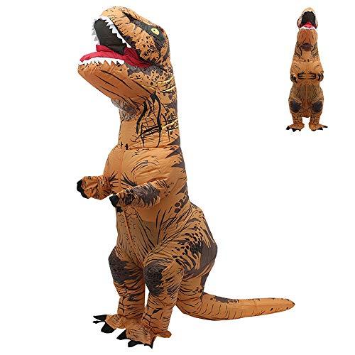 78Henstridge Aufblasbares Kostüm,Halloween Karneval Party Dino Kostüm,Aufblasbares Dinosaurier-Kostüm,Tyrannosaurus Rex Anzug für Männer Frauen und Halloween, T Rex (Erwachsene)