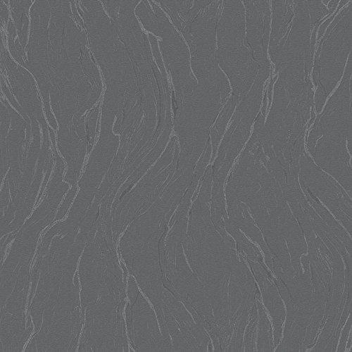 Tapete Anthrazit - Struktur - für Schlafzimmer oder Wohnzimmer - Made in Germany - 10,05m x 0,70m - 58201