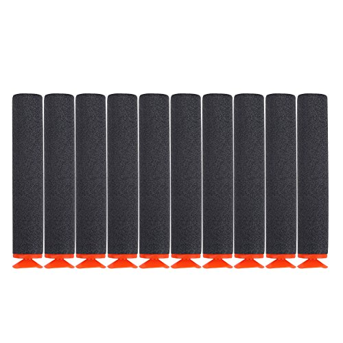 Tbest Refill Bullets Kugeln Darts Eva Kugeln 100 Stück Spielzeugpistole Soft Refill Kugeln Darts Eva-Schaum für Nerf Elite N-Strike (Schwarz)