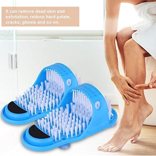 iBàste EIN Paar Badmassagepantoffeln mit Fußreinigungsbürste zur Entfernung von Spa-Massage-Peelings