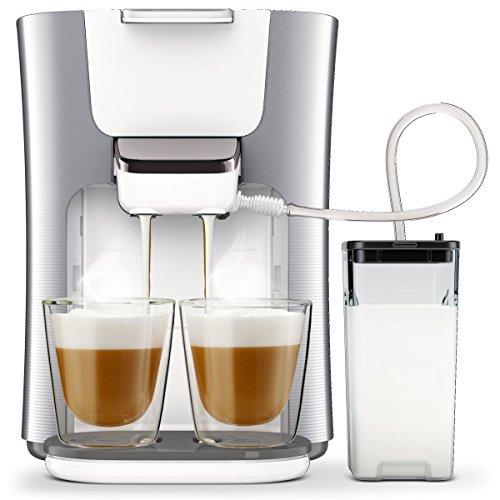 Philips Senseo HD6574/20 Latte Duo Kaffeepadmaschine (2 Kaffee, frische Milch) silber