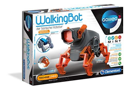 Clementoni 59111 Galileo Science – WalkingBot, laufender Roboter zum Selbstbauen, Einstieg in Elektronik & Robotik, Wissenschaft für Entdecker, High-Tech für Kinder ab 8 Jahren