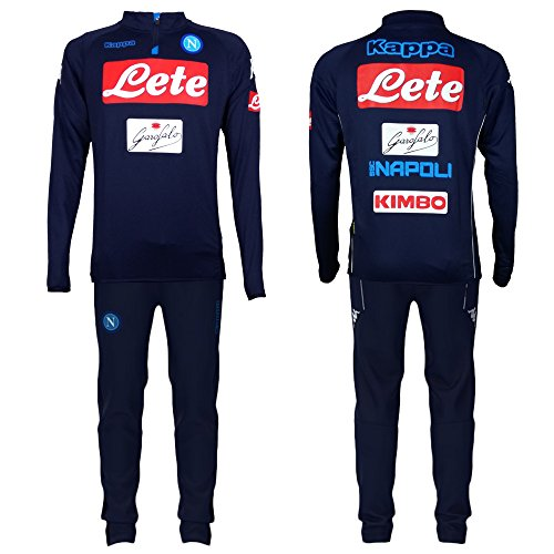 SSC Napoli Kinder Trainingsanzug Blau 2017/2018 Junior JR, blau, YS - YSmall