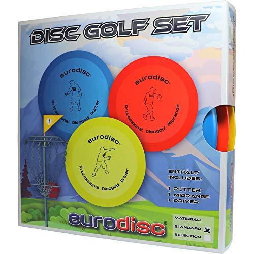 Eurodisc Disc-Golf Einsteiger Starter Set, PDGA Approved, Putter Midrange Driver Disc