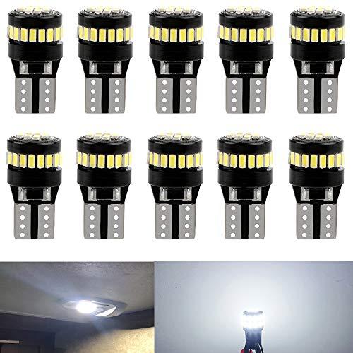 10 Stück weiß T10 12V Glühbirne für beleuchtung lampen ersetzen die Birne 501 194 168 2825