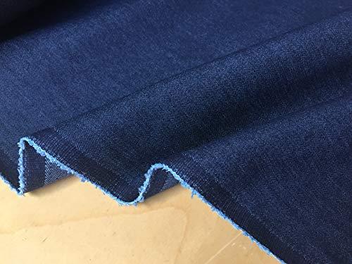 LushFabric Denim-Stoff, Denim, Stretch, Gewaschene Jeans, Baumwolle, 140 cm breit, Meterware