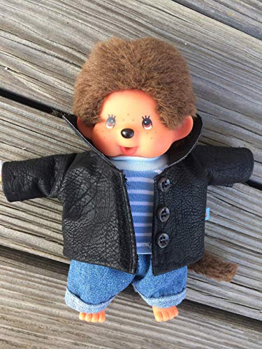 Puppenkleidung handmade passend für MONCHICHI Gr. 20 cm Bekleidung Leder-Jacke + Shirt + Jeans Kleidung Puppenkleidung NEU