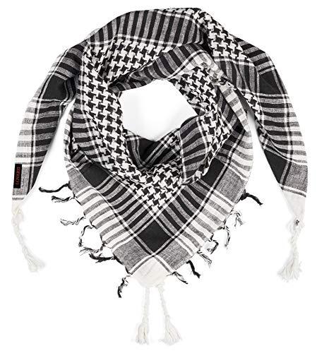 LOVARZI Schwarz Palästinenser Tuch - Damen und Herren Schal - Tuch für junge Männer und Frauen