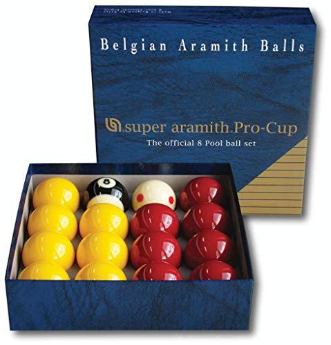 Aramith Pro-Cup hochwertige Pool-Billardkugeln, 8 Stück, 5cm