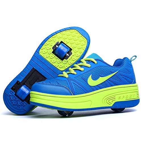 Wasnton Skater-Schuhe / Kinder-Turnschuhe mit 1/2Rollen, Blau - Blau2 - Größe: 31 EU