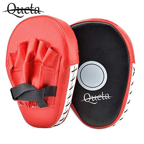 Queta Men's Pratzen,Sport wesentliche Gebogene Boxen, MMA, Kickboxen Muay Thai, Sparring Stanzen Mitts,