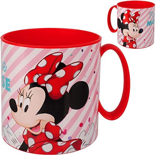 alles-meine.de GmbH Trinkbecher / Henkeltasse -  Disney Minnie Mouse  - 350 ml - aus Kunststoff Plastik - Trinklerntasse / Trinklernbecher - mit Henkel - Mädchen - Tasse - Kind..