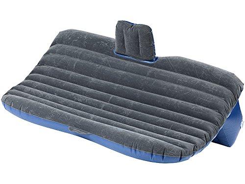Lescars Autobett: Aufblasbares Bett für den Auto-Rücksitz mit 12-Volt-Luftpumpe (Auto Luftmatratze)