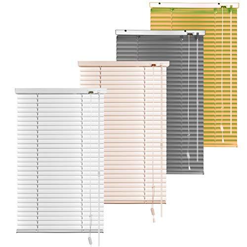 S SIENOC Alu-Jalousie, Sicht-, Licht- und Blendschutz, Wand- und Deckenmontage, Alle Montage-Teile inklusive, Aluminium-Jalousie