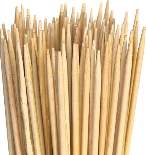 Marshmallow Spieße aus Bambus. Extralange XXL Grillspieße. Perfekt zum Grillen, für Hotdogs, Würstchen und Lagerfeuer. Kann auch Verwendet Werden und Blumen zu Unterstützen. 900mm x 5mm. 110 Stück