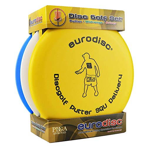 Eurodisc Disc-Golf Einsteiger Starter Set PDGA Approved, Putter Midrange Driver Disc Mix