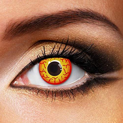 Partylens Farblinsen - Darth Maul - weiche Kontaktlinsen - Jahreslinsen mit Kontaktlinsenbehälter Jahreslinsen, Mehrfarbig, BC 8.6 mm/DIA 14.5 mm / 0 Dioptrien