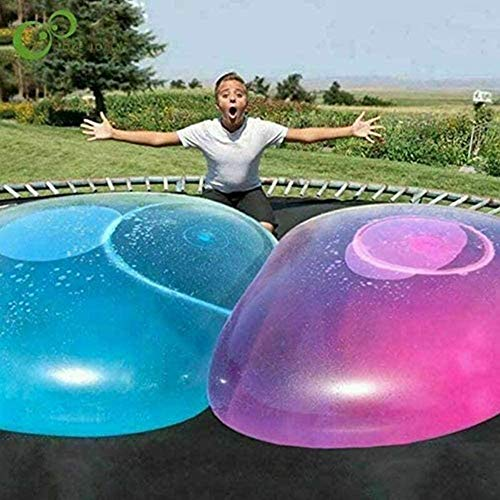 Aufblasbarer Ballon, (120 cm) Dickes aufblasbares Bubble Ball Spielzeug, weiches, leichtes, aufblasbares Wasserball Beach Garden Ball Soft Rubber Ball Outdoor Party
