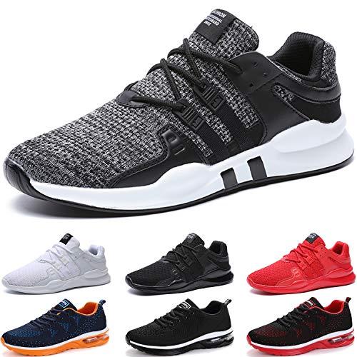 BAOLESEM Sportschuhe Herren Atmungsaktiv Gym Laufschuhe Leichtgewicht Turnschuhe Freizeit Outdoor Sneaker,Grau,41 EU