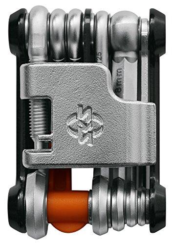 SKS GERMANY TOM Mini-Tool Multifunktionswerkzeug Fahrrad (Miniwerkzeug Rad, aus rostfreiem Stahl/Aluminium, viele integrierte Werkzeug-Funktionen)