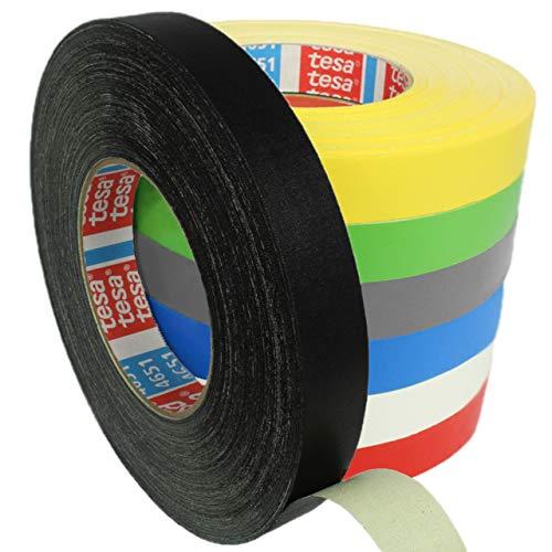 Tesa 4651 Premium Gewebeband verschiedene Breiten und Farben wählbar/schwarz 15 mm x 50 m