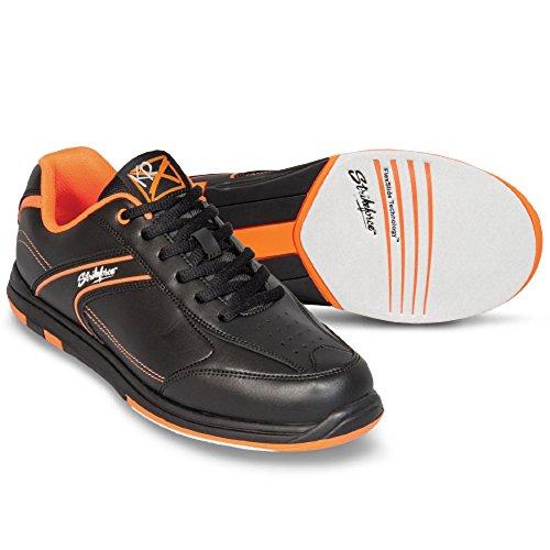 EMAX KR Strikeforce Flyer Bowling-Schuhe Damen und Herren, für Rechts- und Linkshänder in 4 Farben Schuhgröße 38,5-48 mit gratis Schuh-Deo Titania Foot Care (Orange, US 11,5 (44))