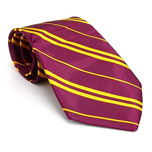 German Trendseller® 1 x Zauberer - Krawatte - Gestreift ┃ Wizard Accessoire - Schlips ┃ 138 cm ┃ Magier Schule ┃ Karneval ┃ Fasching ┃ 1 Krawatten