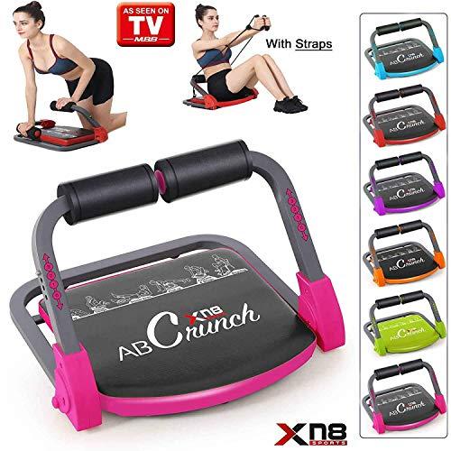 Xn8ABS Smart Core-Trainingsgerät, Fitness-Trainer, Bauchmuskel-Trainer, Bauchmuskelübungen, Fitnessstudio, Zuhause, hellrosa