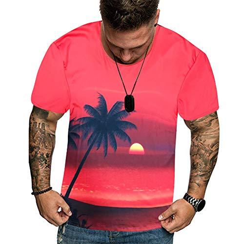 Beonzale Männer Sommer Neue volle 3D gedruckte T-Shirt Plus Größe M-3XL Cool Printing Top Bluse Trägershirt-T-Shirt Tops Für Herren Sweatshirt