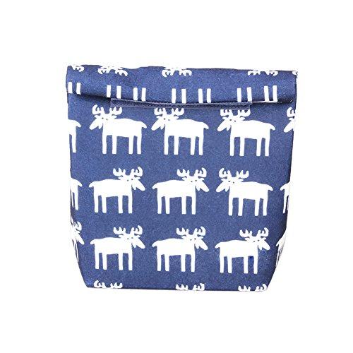 Yvonnelee Lunch-Tasche, Kühltasche Thermotasche Isolierte Lunch Cooler Tasche Lunchbag Isoliertasche mit Klettverschluss-Blau