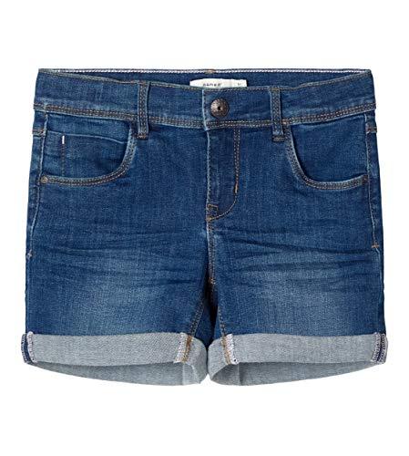 NAME IT Mädchen NKFSALLI DNMTEJA 3323 NOOS Shorts, Dark Blue Denim, 152