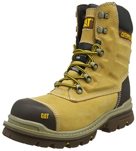 Cat Footwear Herren Premier Sicherheitsstiefel, Gelb (Mn Hnyrst Mn Hnyrst), 43 EU
