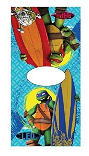 Ninja Turtles-Poncho mit Kapuze, Baumwolle, 50 x 100 cm, Children'Handtuch/s Bademantel/Handtuch Beach
