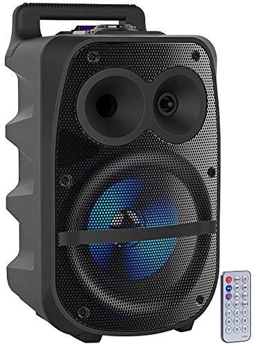 auvisio Party Lautsprecher: Mobile PA-Partyanlage, Bluetooth, MP3, USB, SD, Karaoke, UKW, 150 Watt (Partybox)