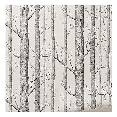 Henreal Birke Papiertapete, Moderne Dekoration, Tapete, Tapete, Holz, für Wohnzimmer, Schlafzimmer