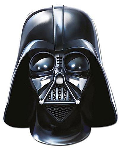 empireposter Star Wars - Darth Vader Papp Maske, aus hochwertigem Glanzkarton mit Augenlöchern, Gummiband - Größe ca. 30x20 cm