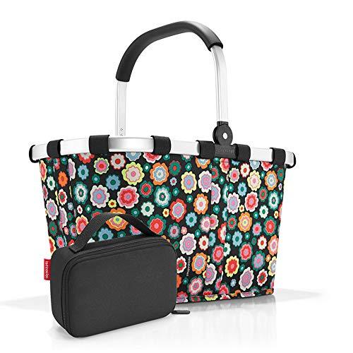 Set carrybag BK, thermocase OY, SBKOY Einkaufskorb mit Kleiner Kühltasche, Happy Flowers (70487003)