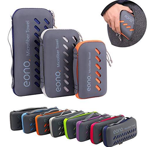 Eono by Amazon - Mikrofaser Handtuch, 8 Farben - kompakt, Ultra leicht & schnelltrocknend - Microfaser Handtücher – Perfekte Sporthandtuch, Strandhandtuch, Reisehandtuch und Badehandtücher