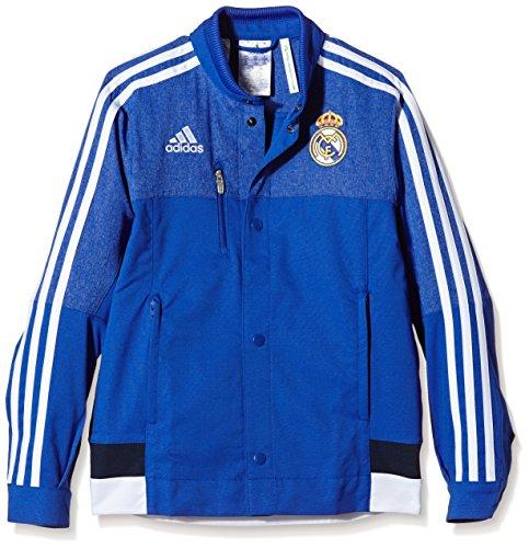 adidas Jungen Jacke Real Madrid Anthem, Bold Blue/White/Collegiate Navy, 176