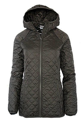 Columbia Women's Blue Square Lodge MId Lightweight Omni Heat Hooded Jacket (XS, Mineshaft)