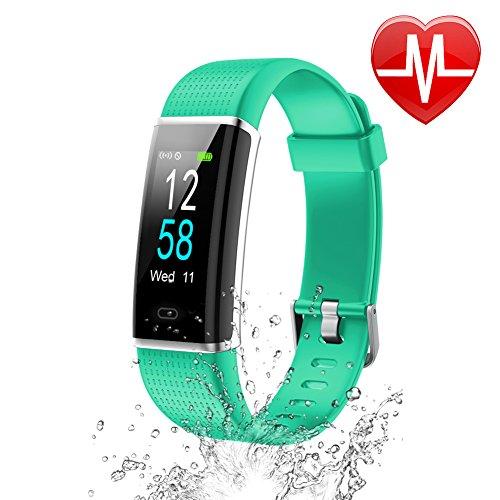 Letsfit Fitness Armband mit Pulsmesser Fitness Tracker Farbbildschirm Schrittzähler mit 14 Trainingsmodi IP68 Wasserdicht Aktivitätstracker mit Schlafmonitor Kalorienzähler kompatibel mit iOS Android
