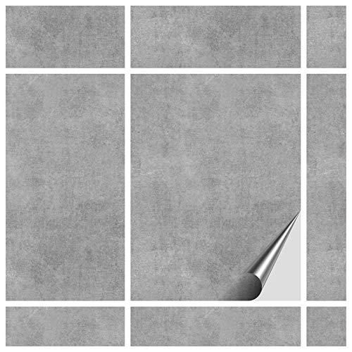 FoLIESEN Fliesenaufkleber 15x20 cm - Fliesen-Folie Bad - Klebefolie Küche - 60 Klebefliesen, Dekor Greydi