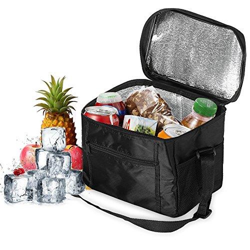 Orlegol Kühltasche Picknicktasche, 10L Eistasche Thermotasche Cooler Bag Groß Thermo Tasche Lunchtasche Kühlbox, Faltbar Isoliertasche für Lebensmitteltransport, Picknick, Büro, Auto oder Urlaub
