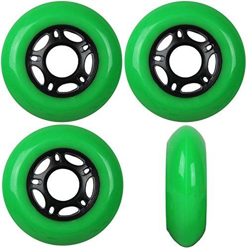 TGM Skateboards Outdoor Inline Skate Rollen Asphalt Formel 76mm 89a X4 grün grün
