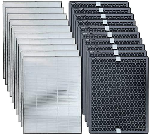Comedes Ersatzfilterset für Philips AC2889, AC2887, AC2882 und AC3829/10 Luftreiniger | HEPA und Aktivkohle-Filter | einsetzbar statt Philips FY2422/30 und FY2420/30 (10)