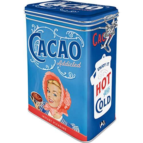 Nostalgic-Art Retro Kaffeedose - Say it 50's - Cacao Addicted, Blech-Dose mit Aromadeckel, Vintage Geschenk-Idee für Retro-Fans, 1,3 l
