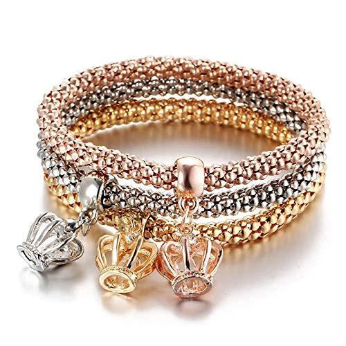 Armband Armreif Armkette Damen Neue 3 Pcs/Set Kristall Schmetterling Armband & Armreif Mehrfachform Elastische Herz Armbänder Für Frauen 81002