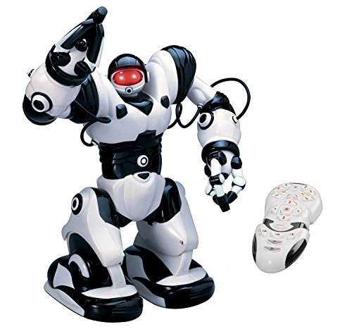 Playtech Logic TT313 Roboactor Interactive Programmierbare RC Intelligent Gehen Laufender Roboter 67 vorprogrammierte Funktionen-Humanoid Robosapien mit Attitude-InfraRot Remote Controlled, Schwarz